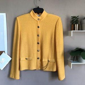 St John Collection Mustard Knit Jacket Blazer